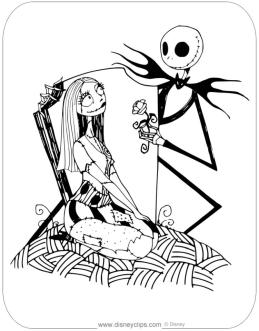 Nightmare Before Christmas Coloring Pages Hard 7uyt