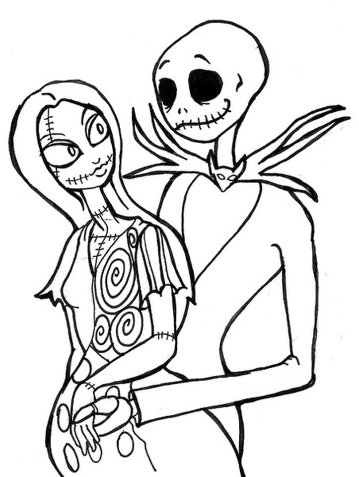 Nightmare Before Christmas Coloring Pages Printable awd8