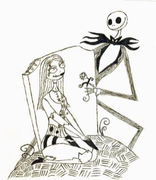 Nightmare Before Christmas Coloring Pages Printable drg6
