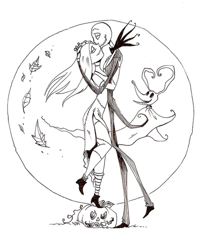 Nightmare Before Christmas Coloring Pages Printable zsc9