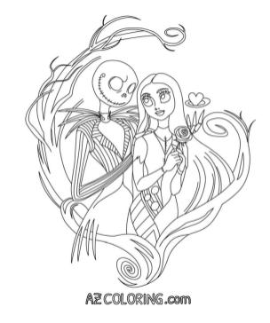 Nightmare Before Christmas Coloring Pages for Grown Ups 1qaz