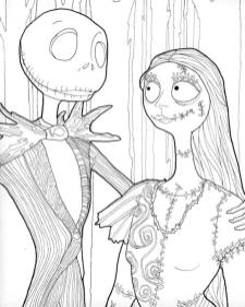Nightmare Before Christmas Coloring Pages for Grown Ups 5tgb