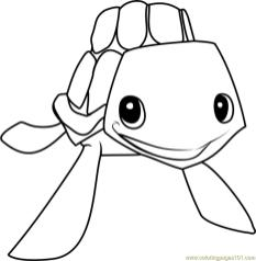 Sea Turtle Animal Jam Coloring Pages 2set