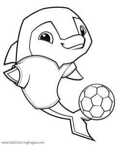 Soccer Dolphin Animal Jam Coloring Pages Printable 7scd