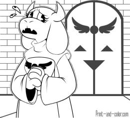 Undertale Coloring Pages cvf1
