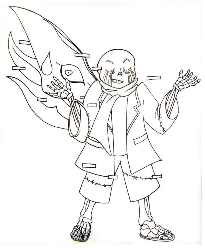 Undertale Coloring Pages for Kids wng9