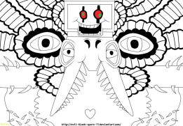 Undertale Coloring Pages for Kids wrd0