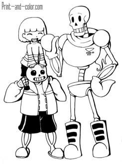 Undertale Coloring Pages tkr3