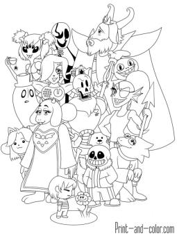 Undertale Coloring Pages ujl2