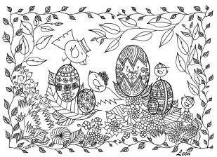 Adult Easter Coloring Pages Cute Easter Egg Pattern