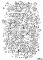 Adult Easter Coloring Pages Free