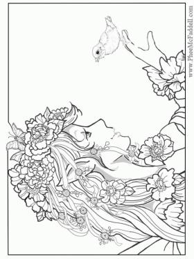 Adult Fairy Coloring Pages 9mx4