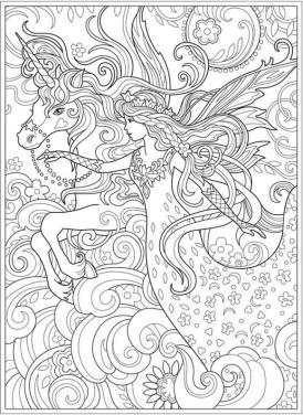 Advanced Fantasy Coloring Pages for Grown Ups 0ung