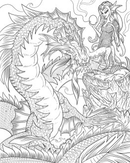 Advanced Fantasy Coloring Pages for Grown Ups 3wdg