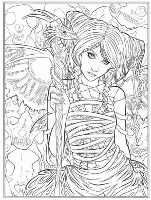 Advanced Fantasy Coloring Pages for Grown Ups 8cdg