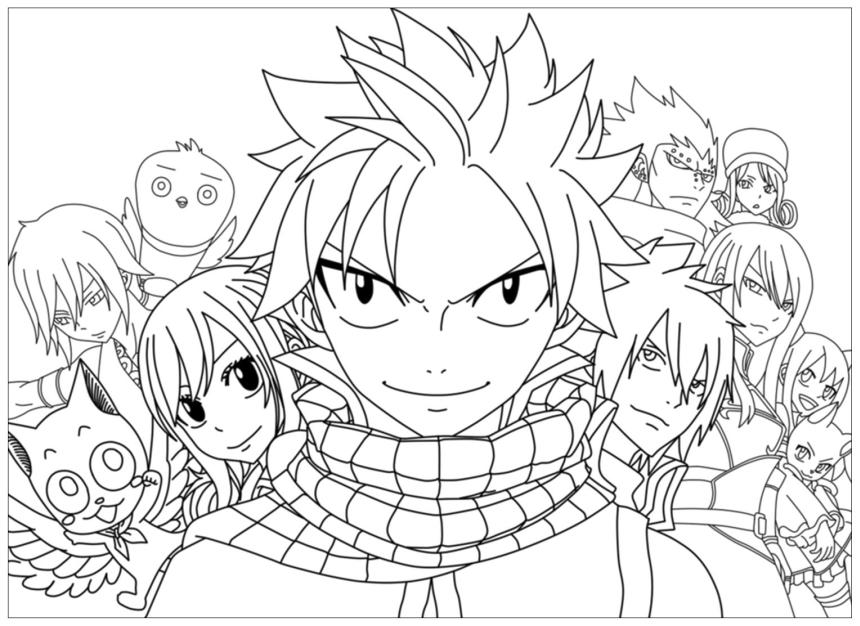 Anime Coloring Pages Fairy Tail