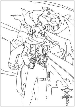 Anime Coloring Pages Full Metal Alchemist