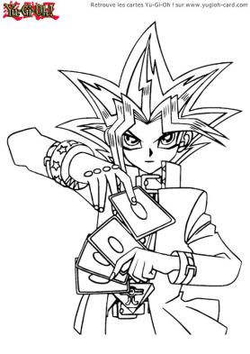 Anime Coloring Pages Yu Gi Oh Drawing Card