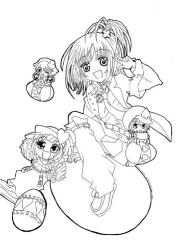 Anime Coloring Pages for Girl 3shg