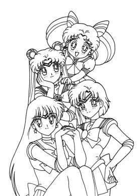 Anime Coloring Pages for Girl 6slr