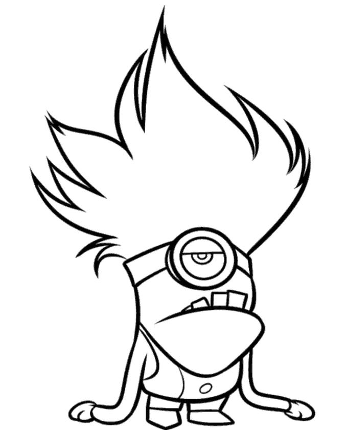 Bad Evil Minion Coloring Pages Free to Print