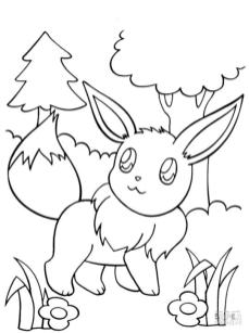 Eevee Coloring Pages 4yb7