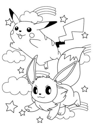 Eevee Pokemon Coloring Pages for Kids 2hj3