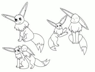 Eevee Pokemon Coloring Pages for Kids 3bh4