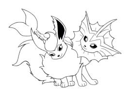 Eevee Pokemon Coloring Pages for Kids 5ds6