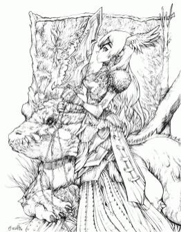 Fantasy Coloring Pages for Adults 7wmk