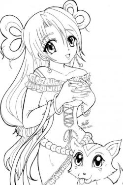 Free Anime Coloring Pages for Girls Beautiful Anime Princess