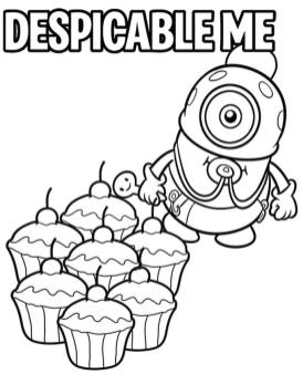 Funny Baby Minion Coloring Pages for Kids