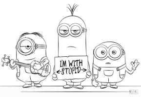 Funny Minion Coloring Pages for Kids
