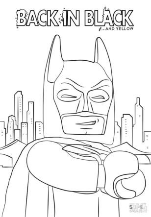 Lego Batman Coloring Pages Back in Black