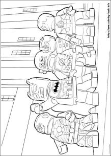 Lego Batman Coloring Pages Justice League in Action