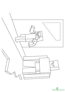Minecraft Coloring Pages Iron Golem irt6