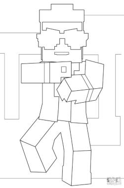 Minecraft Gangnam Style Coloring Pages gn5