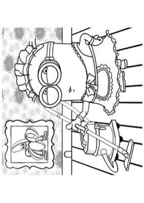 Minion Cleaning the House Coloring Pages