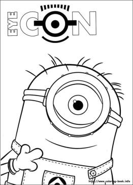 Minion Coloring Pages 3vw4