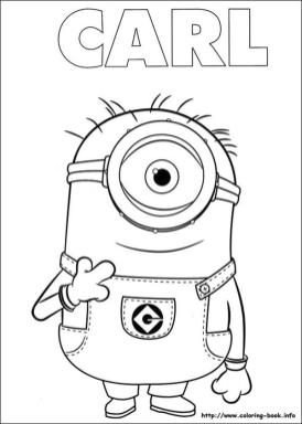 Minion Coloring Pages 5hn6