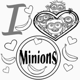 Minion Coloring Pages Free for Toddlers 2ilm