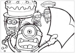 Minion Coloring Pages Printable 8brt