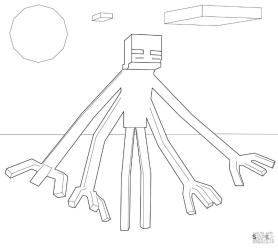 Mutant Enderman Minecraft Coloring Pages mtt1