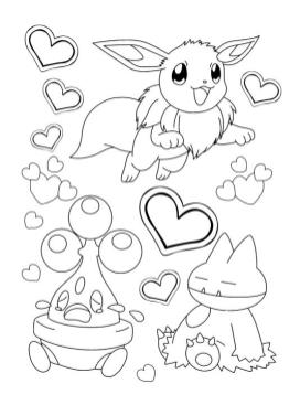 Pokemon Eevee Coloring Pages Online 2dc3