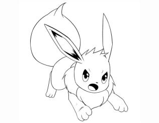 Pokemon Eevee Coloring Pages to Print 9ij0