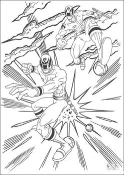 Power Rangers Coloring Pages 1att