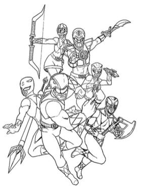 Power Rangers Coloring Pages Free 2jpi