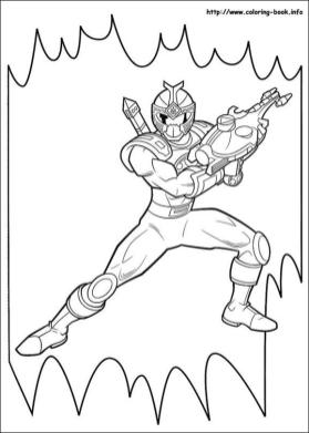 Power Rangers Coloring Pages to Print for Kids