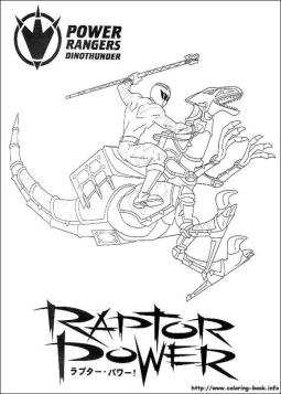 Power Rangers Dino Thunder Coloring Pages Printable