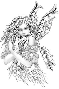 Printable Fairy Coloring Pages for Adults 3dg8